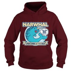 Narwhal unicorn of the sea hoodie