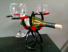 Horse Shoe Wine Rack for Two #30