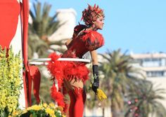 2014 Flower Parade at the Carnival in Nice. Where can we get some of those tights? (c) Nice Tourisme