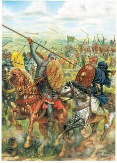 El Cid and the Reconquesta - La Pintura y la Guerra. Sursumkorda in memoriam Medieval World, Medieval Knight, Medieval Armor, Crusader Knight, Early Middle Ages, Dark Ages, Military Art, History, Painting