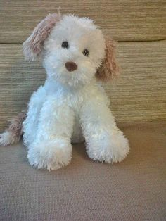 """Puppy Dog - have the pattern - now to knit one in black and white to match my """"Lilly""""!"""