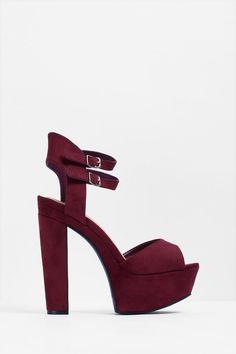 Vixen Double Strap Platform Heels
