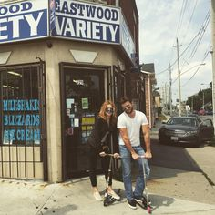Scott Eastwood and his sister Francesca in Buffalo, NY