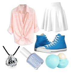 """""""#hacked"""" by corabellsg ❤ liked on Polyvore featuring Converse, Bling Jewelry and River Island"""
