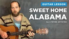 "Guitar lesson for ""Sweet Home Alabama"" by Lynyrd Skynyrd (acoustic)"