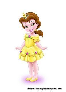 Princesas disney bebes para imprimir