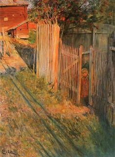 """Ulf in the Evening Sun""  Carl Larsson"