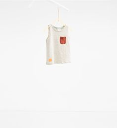 Top with pocket-View all-T-SHIRTS-BABY BOY   3 months-3 years-KIDS   ZARA United States