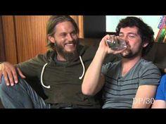 SO FUNNY !! DP/30 Sneak Peek: Vikings, actors Travis Fimmel, George Blagden - YouTube