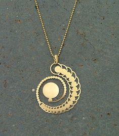 Sacred Geometry Jewelry Gold Plated Geometric by LinkedFields