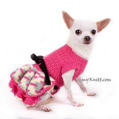 Rosa perro vestido XXS volantes faldas Chihuahua ropa gato