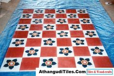 AthangudiTiles.Com - Athangudi Tiles - Tile Designs Room Wall Tiles, Picnic Blanket, Outdoor Blanket, Indian Crafts, Tile Design, Wood Crafts, Rugs, Antiques, Home Decor