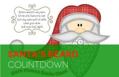 Darling Christmas countdown calendar! My kids will love this! Easy printable!!