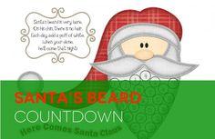 Darling Christmas countdown calendar! My kids will love this! Easy printable!!