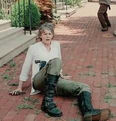 The Walking Dead Doc Martens Phina knee-high boot 5 buckles The Walking Dead, Walking Dead Season 6, Walking Dead Tv Series, Dead Still, Daryl And Carol, Melissa Mcbride, Nine Lives, Stuff And Thangs, Clint Eastwood