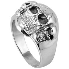 Stainless Steel Skulls Ring