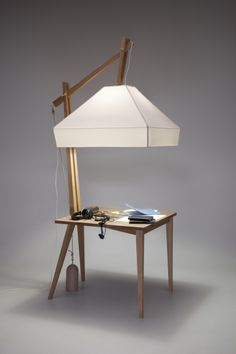 symbiosis of table and lamp bandero office desk 100