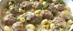 Makaron z klopsikami w sosie pieczarkowo-porowym - Blog z apetytem