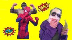 Spiderman vs Joker vs HulkBEST EVER NO.1 Superhero Fun Banana Prank