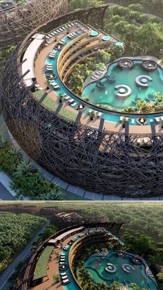 Hotel Architecture, Unique Architecture, Concept Architecture, Futuristic Architecture, Sustainable Architecture, Landscape Architecture, Beautiful Places To Travel, Cool Places To Visit, Vacation Places