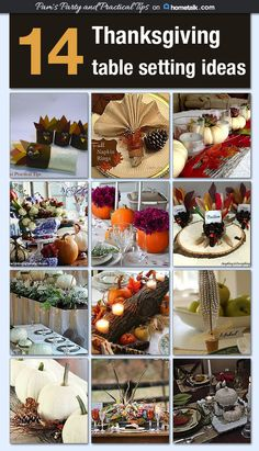 14 stunning Thanksgiving table setting themes