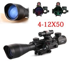 71.57$  Watch now - http://alin6j.worldwells.pw/go.php?t=32761482115 - 4-12X50 Tactical Optical Rifle Scope Red Green Dual illuminated Mount Fit For 20mm Rail+ Red Laser Sight + Holographic Dot Sight