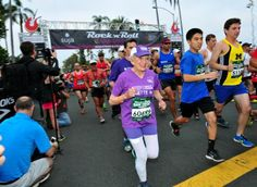 In this June 1, 2014 photo, Harriette Thompson, then 91, starts the 2014 Suja…