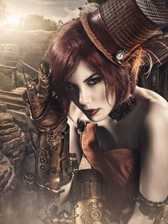 Steampunk Tendencies... I love this whole outfit! Steampunk is sooooo cool!!!