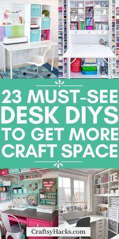 23 DIY Craft Desk Ideas for Your Craft Room