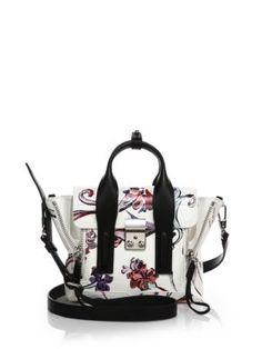 3.1 Phillip Lim - Pashli Mini Floral Leather Satchel, сумки модные брендовые, bags lovers, http://bags-lovers.livejournal