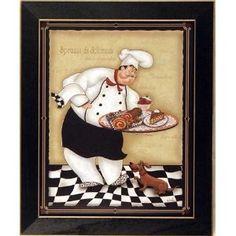 I love the  Italian Chef kitchen stuff. Fat Chef Kitchen Wall Art Prints