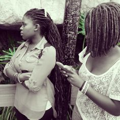 long locs and loc bob Cute Curly Hairstyles, Weave Hairstyles, Curly Hair Styles, Natural Hair Styles, Dreadlock Hairstyles, Black Hairstyles, Wedding Hairstyles, Dreadlock Styles, Dreads Styles