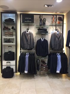 Visual Merchandiser, styling and still life designs *Zegna Clothing Store Interior, Clothing Store Displays, Clothing Store Design, Store Window Displays, Denim Display, Visual Merchandising Fashion, Shoe Store Design, Fashion Displays, Boutique Decor