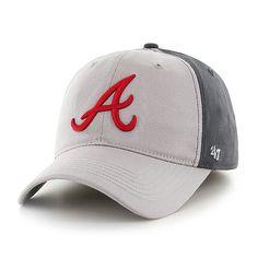 3ba25479be5 Atlanta Braves Umbra Closer Dark Charcoal 47 Brand Stretch Fit Hat
