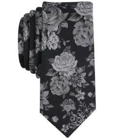Bar Iii Men's Thalia Floral Skinny Tie, Created for Macy's - Blue