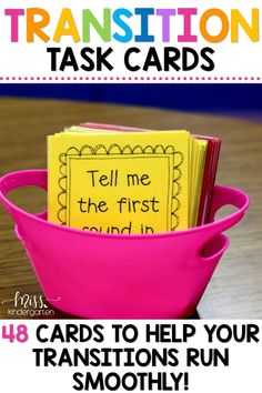 Up your classroom management game with these fun transition cards. Successful transitions in the classroom leads to more time for learning. These cards also provide fun activities in the form of brain breaks! Students have to brainstorm ideas to complete the cards before moving on to the next task! #learningisfun #classroommanagement