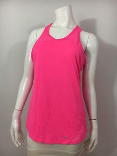 a1cb800faeee2 Nike Large Women s Pink Relay With Mesh Running Tank Top Shirt
