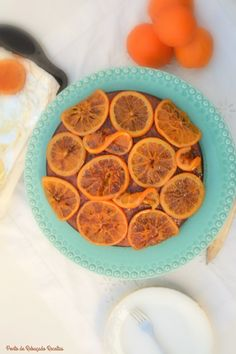 Bolo de laranja em ponto de rebuçado