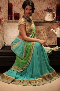 Gorgeous #Lehenga Choli by Peppermint Diva https://www.facebook.com/peppermintdivakolkata Kolkata