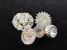 Vintage buttons. 5 beautifully embellished by JessEBees on Etsy, $6.95