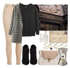 """""""Shopping in Diagon Alley #2"""" by leah1992 ❤ liked on Polyvore featuring rag & bone, Giuseppe Zanotti, 8, Forever 21, London, magic, diagonalley, wizards and witches"""