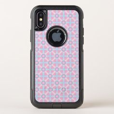 Cute Pink Purple & Light Blue Pattern OtterBox Commuter iPhone X Case - light gifts template style unique special diy