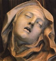 """close up of St Therese in Bernini's """"The Ecstasy of St Therese"""""""