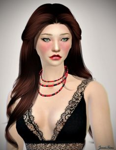 Jenni Sims: Accessory Necklace • Sims 4 Downloads