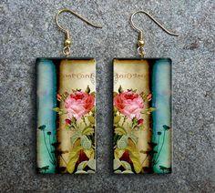 Romantic polymer clay earrings by adrianaallenllc on Etsy, $15.00