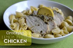 Lemon Pesto Chicken | If you're a fan of pesto recipes or lemon chicken, try this slow cooker dinner recipe. It's the perfect dinner recipe for spring!