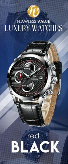 7ebd09049cb CADISEN CM90 Luxury Sport Stainless Steel Waterproof Wristwatch