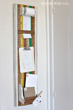 Kitchen or Office Mail Storage Organizer - To Do List - Grocery List