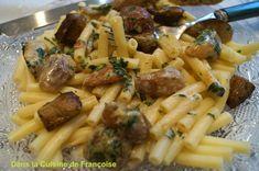Macaronade de Fêtes ou Macaronis au Foie Gras et Cèpes / Festivities macaronade or Macaroni with Foie Gras and Porcini