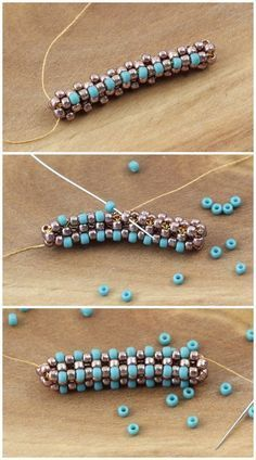 Seed bead jewelry Cubic Right Angle Weave (C-RAW) – efektowny ścieg beadingowy -tutorial Beste Seed Bead Schmuck 2017 Cubic Right Angle Weave Seed Bead Anleitungen Source by t [Tutorial] Bar and Ring Tutorial - How to Create Tubular Brick Stitch - Fire Seed Bead Tutorials, Beading Tutorials, Beading Patterns, Beading Techniques, Craft Tutorials, Seed Bead Bracelets, Seed Bead Jewelry, Bead Jewellery, Seed Beads